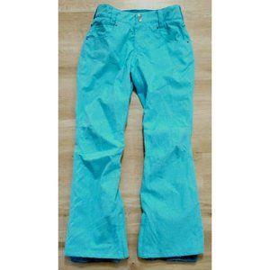 Aperture Womens Waterproof Blue Snowpants Small